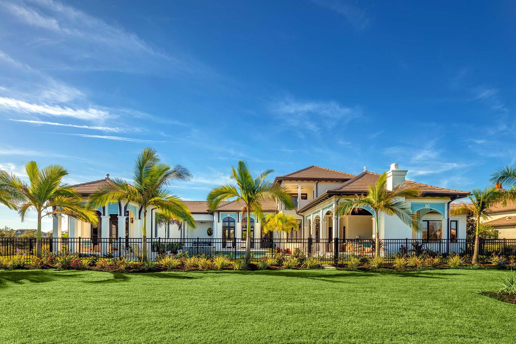 Lakewood Ranch Tropical West Indies Model | Sarasota Custom Home